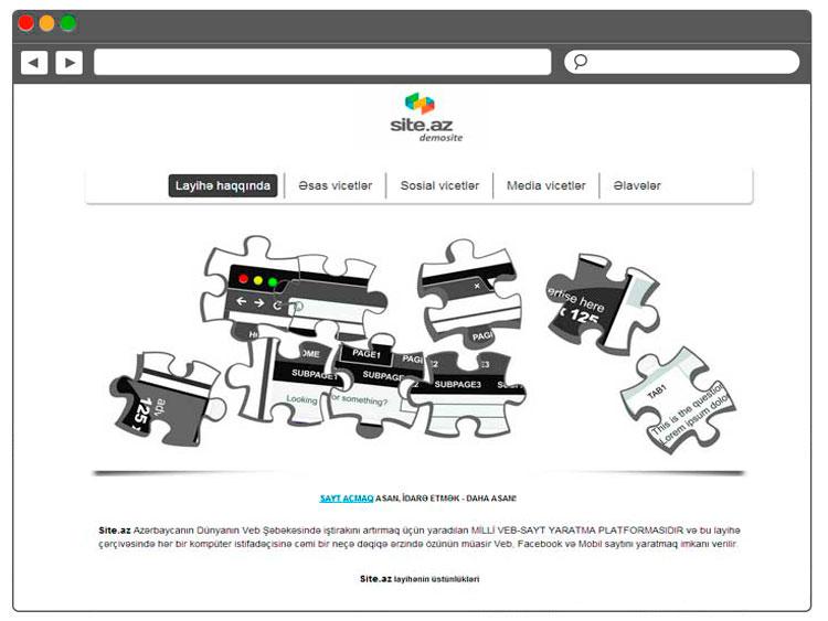 Разработка demo сайта на базе online конструктора