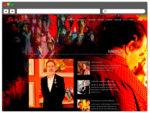 Веб дизайн сайта для известного художника