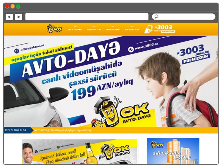 Bakıda Taksi Xidməti üçün Müasir Internet Səhifə / Интернет сайт для службы заказа такси в Баку