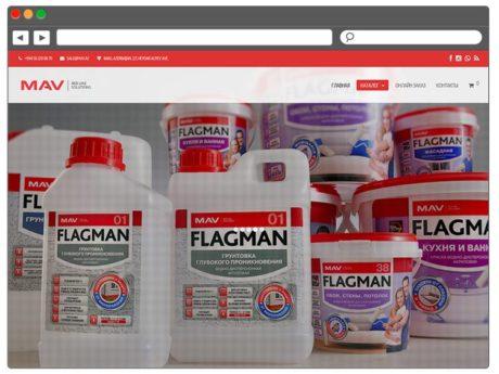 Интернет магазин лакокрасочной продукции / Создание и продвижение сайтов в Баку