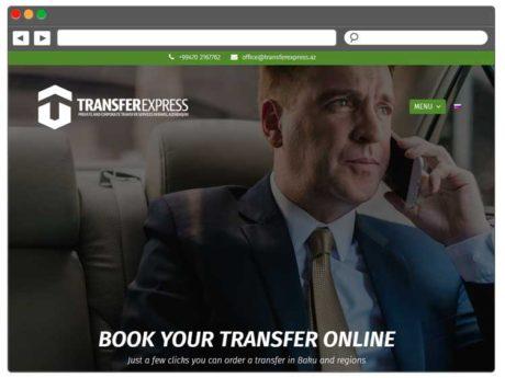 Transferlər Təşkil Edən şirkəti üçün Sayt / Сайт для компании по организации трансферов
