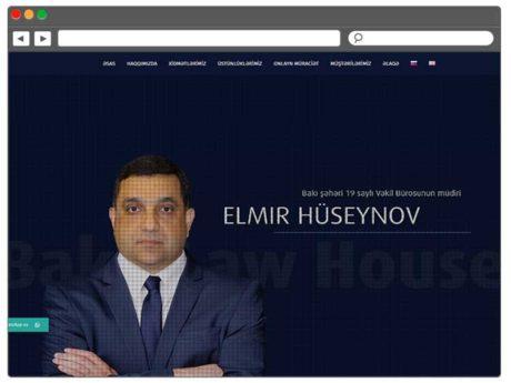 Baku Law House / Saytlarin Hazirlanmasi / Создание сайтов в Баку