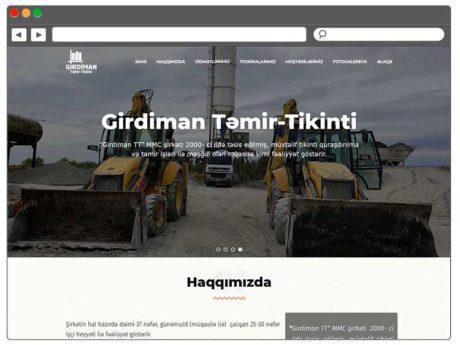 Təmir-tikinti şirkəti üçün Veb Sayt Hazırlanması / Изготовление веб сайта для строительной компании