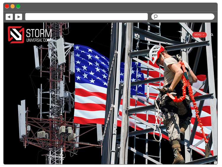 ABŞ Telekomunikasiya şirkəti üçün Landing Page / Лендинг для американской телекоммуникационной компании