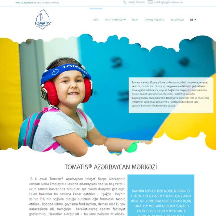 İnkişaf Bərpa Mərkəzi üçün Veb Sayt Hazırlanması / Разработка веб сайта для центра развития
