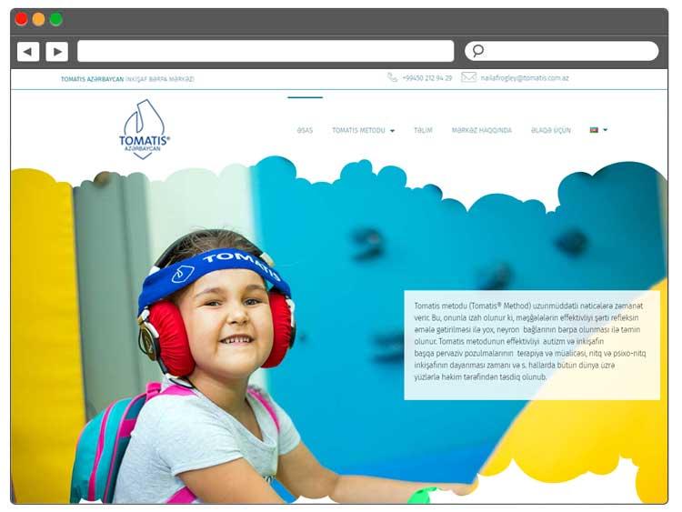 İnkişaf Bərpa Mərkəzi üçün Veb Sayt / Веб сайт для лечебно-реабилитационного центра