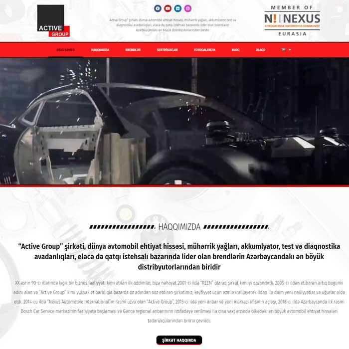 Avtohissələrinin Topdan Satış şirkət üçün Veb Sayt / Сайт для компании по оптовой продаже автозапчастей