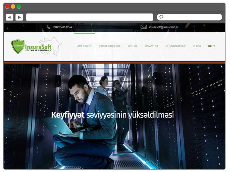 Soft şirkəti üçün Veb Sayt / Веб сайт для компании по разработке софт-решений
