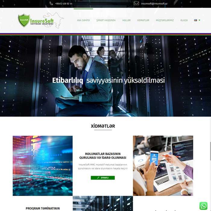 Proqram təminatı hazırlayan şirkəti üçün veb sayt / Сайт для компании по разработке программного обеспечения