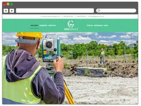 Geoloji-Geofizika şirkətin Veb Saytı / Веб сайт для геологической компании